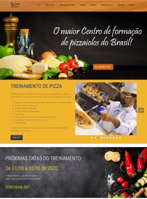 Imagem da Home Page do site do Senhor Pizza